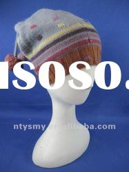 new fashion knitted hat with pompom