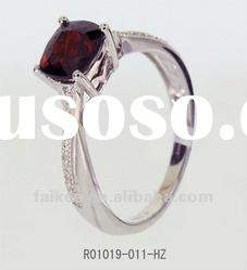 new style 925 sterling silver rings with ruby