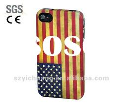 phone case/hard case+water transfer printing+rubbrized