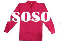 pink long sleeve customized polo T-shirt