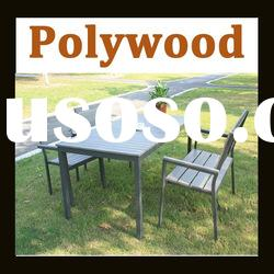 polywood sets / polywood table and polywood chairs with Aluminium frame/ outdoor garden furniture