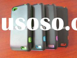 popular!!Double corlor !Strong PC +silicone case for HTC ONE V
