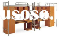 school metal bunk beds/military metal bunk beds/metal bunk bed with desk