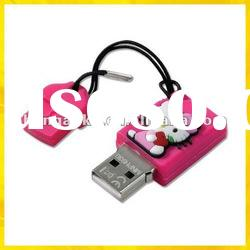 silicon hello kitty usb flash drive 1GB 2GB 4GB 8GB 16GB 32GB