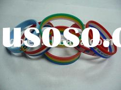 silicone bracelet, mixed color silicone wristband
