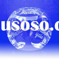 six facets high quality solid glass ball paperweight