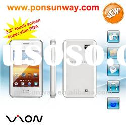 slim mobile phone with big battery varity games touch PDA phone