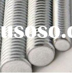 threaded rod, threaded steel rod with zinc plated