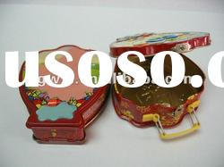 tin case with handle for baby kids
