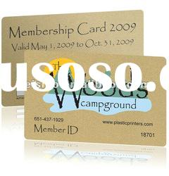 transparent PVC VIP card /membership card
