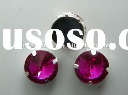 wholesale metal base jewelry and crystal rhinestone with metal claw