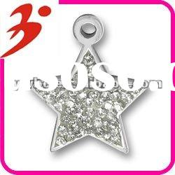 wholesale silver plated crystal star jewelry pendant(185394)