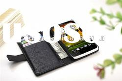 with stand and wallet!Leather Case for htc one x Wholesale price!