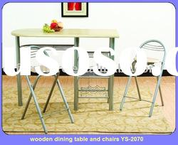 wooden dining table and chairs YS-2070