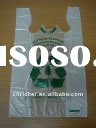 100% Biodegradable Plastic shopping T-shirt bag/vest bag/carrier bag
