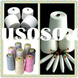 100% Spun Polyester Yarn for Making Sewing Thread Raw White 20/2/3