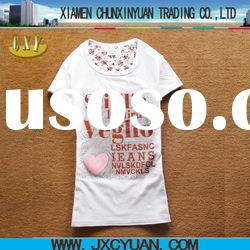 180g-200g ladies o-neck t shirt for summer