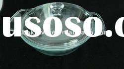 1.5L glass covered casserole,high borosilicate/pyrex glass, heat resitant glass pot with lid