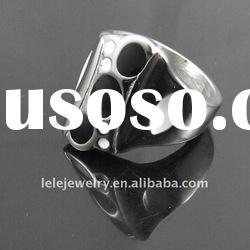 2011 fashion black stainless steel rings jewellery
