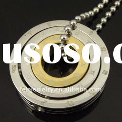 2011 fashion stainless steel pendant jewelry with couple rings