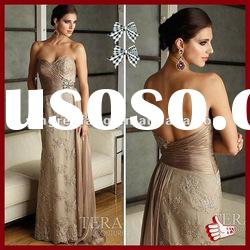 2012 Best Selling Satin And Lace Sweetheart Sheath Applique Grey Mother Of The Bride Dresses