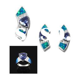 2012 Fashion opal jewelry set,OEM,ODM orders are welcome,fashion opal jewelry set,