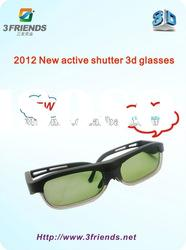 2012 New style DLP link projector 3D active shutter glasses