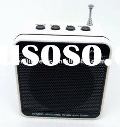 2012 Newest style! Multifunction speaker with FM radio /fm radio usb sd card reader speaker