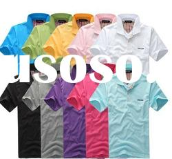 2012 cheap fashion summer polo shirt for woman and men +short sleeve+many color