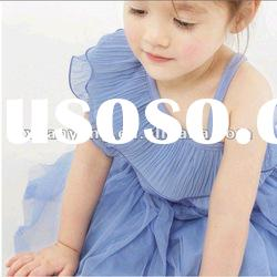 2012 cute summer clothes fancy cheap lace fabric baby frock designs