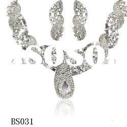 2012 exquisite beautiful crystal jewelry set