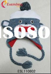 2012 fashion hot selling knit animal hats