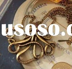 2012 fashion octopus necklaces /costume jewelry