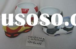2012 hot-sale football ceramic shoe flower pots