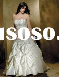 2012 new style crystal bead ruffle plus size wedding dress