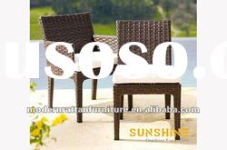 2012 new style patio garden aliumium PE rattan bar table and bar chairs for outdoor