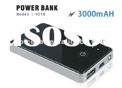 3000mAH Portable power bank, mini power bank for Iphone