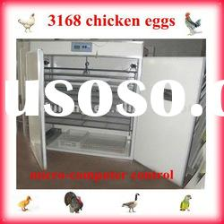 3168 chicken eggs fully automatic chicken incubator
