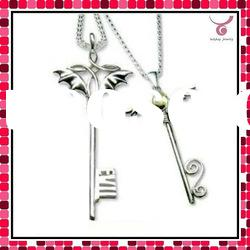 3D magic key necklace, lovely pendant necklace, 2012 new fashion silver jewelry necklace