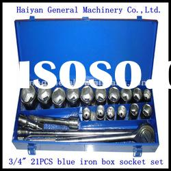 "3/4"" drive 21pcs auto tool set, auto spare part socket wrench"