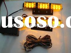 3 X 3 LED Car Amber Flash Strobe Light 3 Flashing Modes