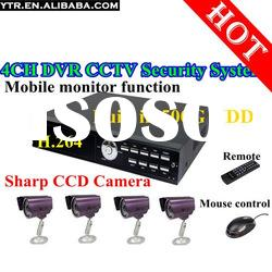 4CH CCTV Security System 4CH H.264 Net DVR Standalone 4 420TVL IR Outdoor Camera 500GB HDD