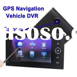 4.3 inch Touch Screen Vehicle DVR Digital Video Recorder GPS Navigation with TF Card Slot