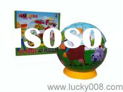 4d plastic puzzle ball toy promotion toys