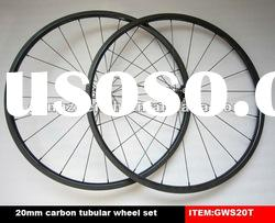 700C bike wheels carbon fiber bicycle wheel set tubular 20mm