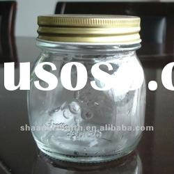 9 oz glass mason jar with metal lid