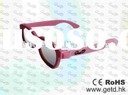 ABS Plastic Circular polarized 3D glasses for 3D TV