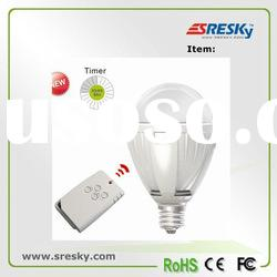 AC power remote control led e27 bulb with timer