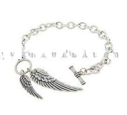 Angel Wings Charm Chain Bracelet,Alloy Bracelet,Fashion Accessories For Men,Women And Kids