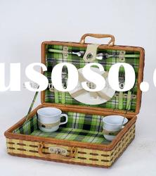 Bamboo picnic basket for 2/4/6 persons